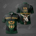 South Africa Coat Of Arms Black All Over Print Polo Shirt