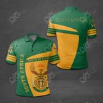 South Africa Coat Of Arms Sport Style All Over Print Polo Shirt