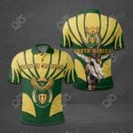 South Africa Coat Of Arms Yellow All Over Print Polo Shirt