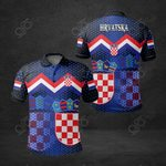 Croatia Coat Of Arms Black All Over Print Polo Shirt