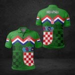 Croatia Coat Of Arms Green All Over Print Polo Shirt