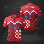 Croatia Coat Of Arms Red All Over Print Polo Shirt