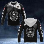 Austria Coat of Arms White - Flag All Over Print Hoodies