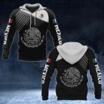 Mexico Coat of Arms White - Flag All Over Print Hoodies