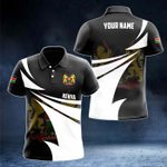 Customize Kenya Coat Of Arms New Style 3D Print All Over Print Polo Shirt
