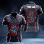 Customize Lithuania Coat Of Arms Print 3D Special All Over Print Polo Shirt