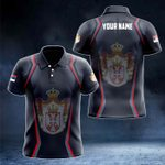 Customize Serbia Coat Of Arms Print 3D Special All Over Print Polo Shirt