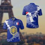 France Christmas All Over Print Polo Shirt
