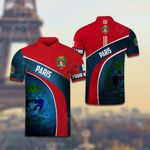 Customize Paris Coat Of Arms All Over Print Polo Shirt
