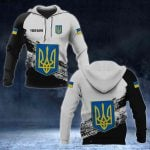 Customize Ukraine Coat Of Arms Black And White All Over Print Hoodies