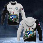 Customize Cuba Coat Of Arms Black And White All Over Print Hoodies