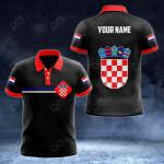 Customize Croatia Coat of Arms Color Flag All Over Print Polo Shirt