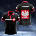 Customize Poland Coat of Arms Color Flag All Over Print Polo Shirt