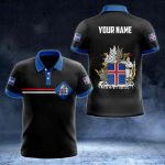 Customize Iceland Coat of Arms Color Flag All Over Print Polo Shirt