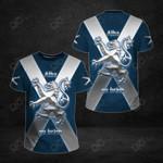 Scotland Flag Lion 3D All Over Print T-shirt
