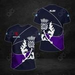 Scotland Flag Rugby Thistle All Over Print T-shirt