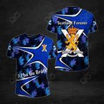 Scotland Forever Camo Pattern All Over Print T-shirt