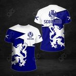 Scotland Lion Blue And White All Over Print T-shirt