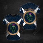 Scotland Thistle Pattern All Over Print T-shirt