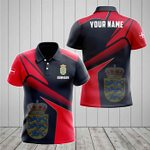 Customize Denmark Proud With Coat Of Arms All Over Print Polo Shirt