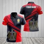 Customize Egypt Proud With Coat Of Arms All Over Print Polo Shirt