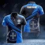 Customize Greece Proud With Coat Of Arms All Over Print Polo Shirt
