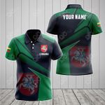 Customize Lithuania Proud With Coat Of Arms All Over Print Polo Shirt