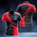 Austria Proud With Coat Of Arms All Over Print Polo Shirt