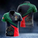 Mexico Proud With Coat Of Arms All Over Print Polo Shirt