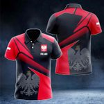 Poland Proud With Coat Of Arms All Over Print Polo Shirt