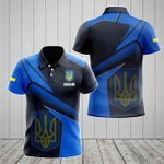 Ukraine Proud With Coat Of Arms All Over Print Polo Shirt