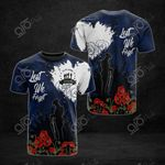 Australia Anzac Lest We Forget Poppy All Over Print T-shirt