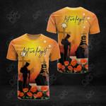 Australia Lest We Forget Poppy Sunset All Over Print T-shirt