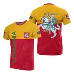 Lithuania Flag 3D Flag All Over Print T-shirt