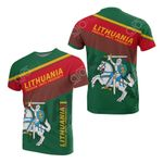 Lithuania - Freedom, Unity, Prosperity - Green All Over Print T-shirt