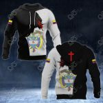 Colombia Coat Of Arms - Jesus All Over Print Hoodies