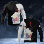 Philippines Coat Of Arms - Jesus All Over Print Hoodies