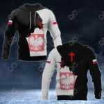 Poland Coat Of Arms - Jesus All Over Print Hoodies