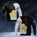 France Coat Of Arms - Jesus All Over Print Hoodies