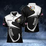 Customize Belfast Coat Of Arms All Over Print Polo Shirt