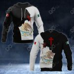 Mexico Coat Of Arms - Jesus All Over Print Hoodies