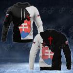 Slovakia Coat Of Arms - Jesus All Over Print Hoodies