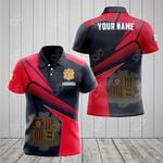 Customize Andorra Proud With Coat Of Arms All Over Print Polo Shirt