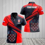 Customize Croatia Proud With Coat Of Arms All Over Print Polo Shirt