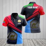 Customize Eritrea Proud With Coat Of Arms All Over Print Polo Shirt