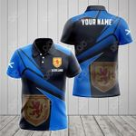 Customize Scotland Proud With Coat Of Arms All Over Print Polo Shirt