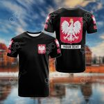 Customize Poland Coat Of Arms - Black All Over Print T-shirt