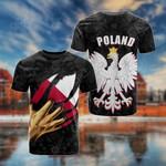 Poland Coat Of Arms Black Folk All Over Print T-shirt