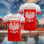 Poland Polska Coat Of Arms Flag All Over Print T-shirt