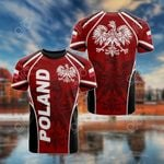 Poland Red 3D All Over Print T-shirt